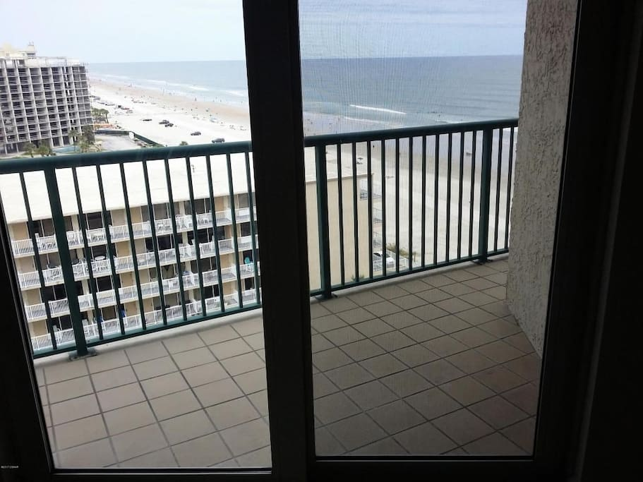 You can see all the way down the beach from the master bedroom balcony
