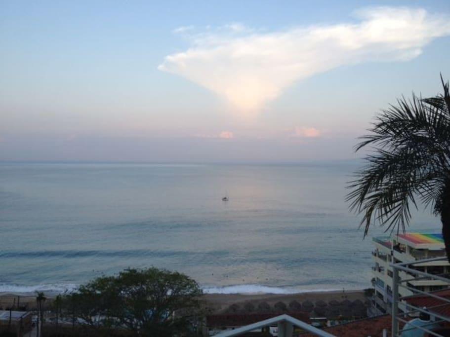 Ocean View from the Livingroom