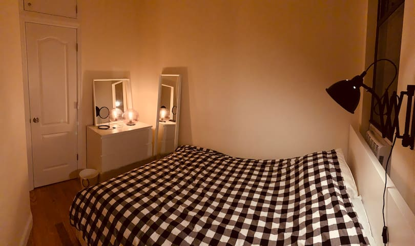 Private Cozy&Quiet Bedroom 1min from central park