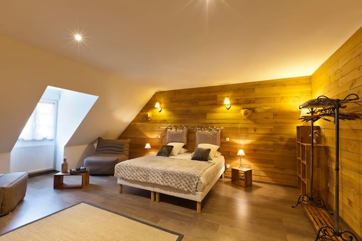 Chambre spacieuse dans Maison de Caractère - Saint-Lothain - Hus