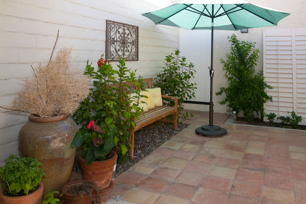 Inner patio suitable for BBQ and dining