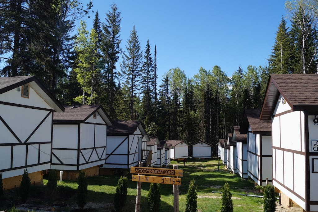 Our 15 cabins