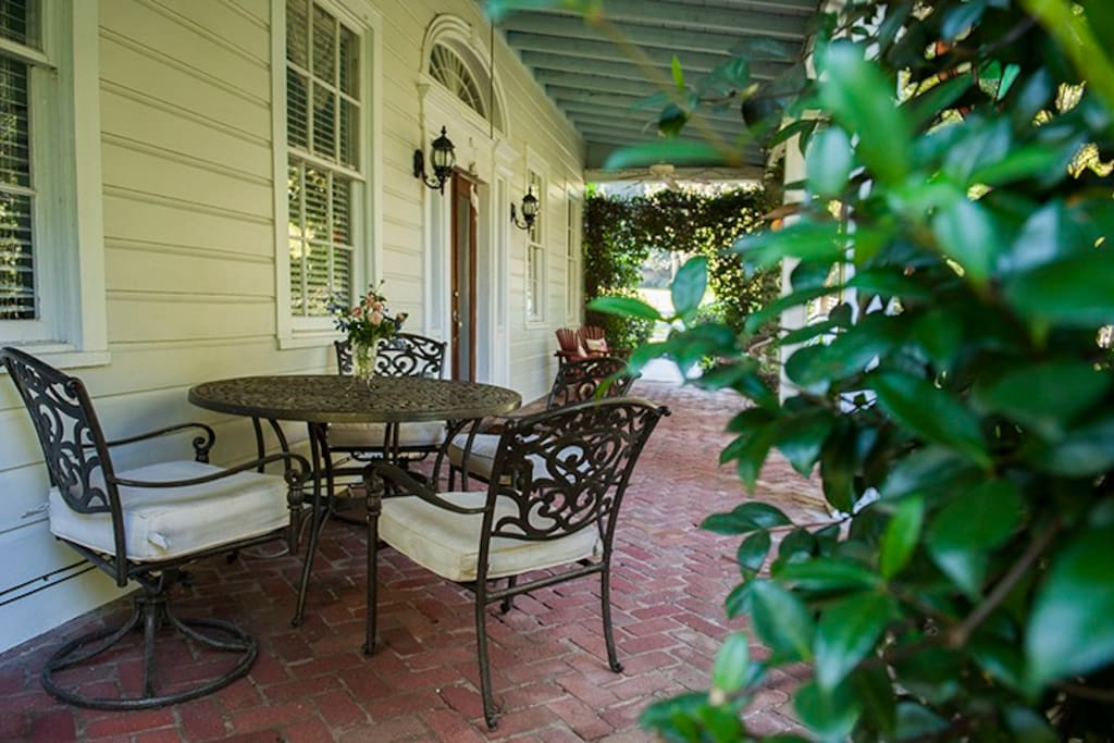 Lay back and relax on the Southern-style front porch.
