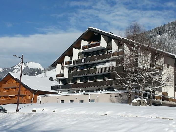 Appart avec terrasse idéal ski nordique et alpin