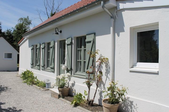 Maison + studio + jardin, frontière du Touquet