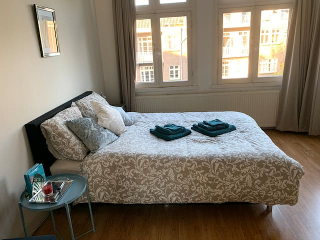 Large and light private room Central in Amsterdam