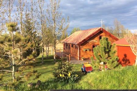 Golden circel,scenery,hot tub. Summerhouse - Sumarhús Vörðufelli - Talo