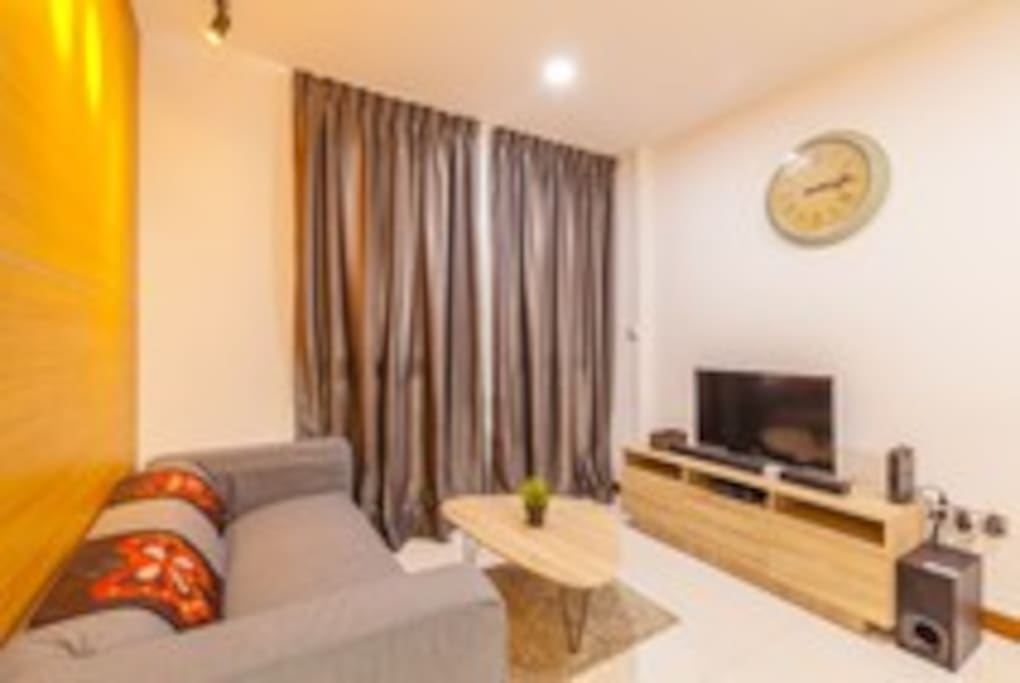 Warm and cosy living area with free wifi and cable tv