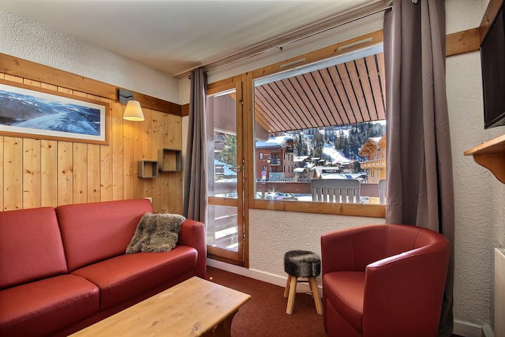 Nice 2 rooms apartment with access to Plagne 1800 swimming pool