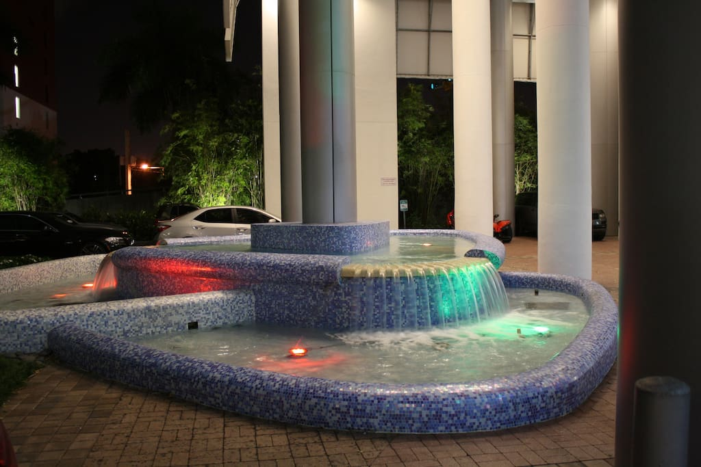 Water Fountain at the Entrance