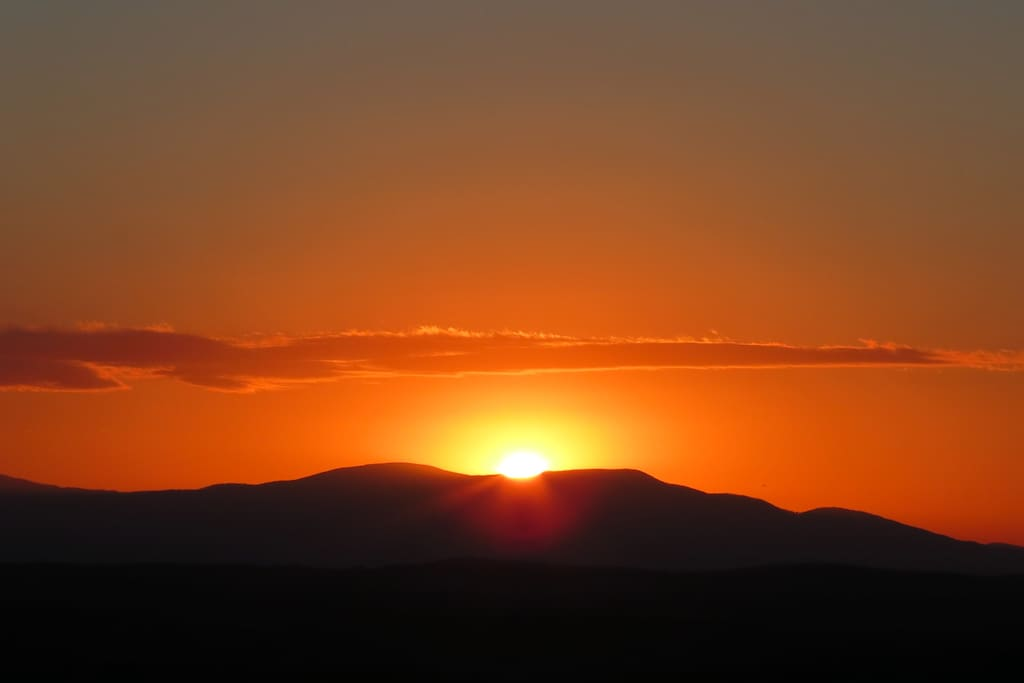 Sunrises over the Blue Ridge Mountains are everyday treats.