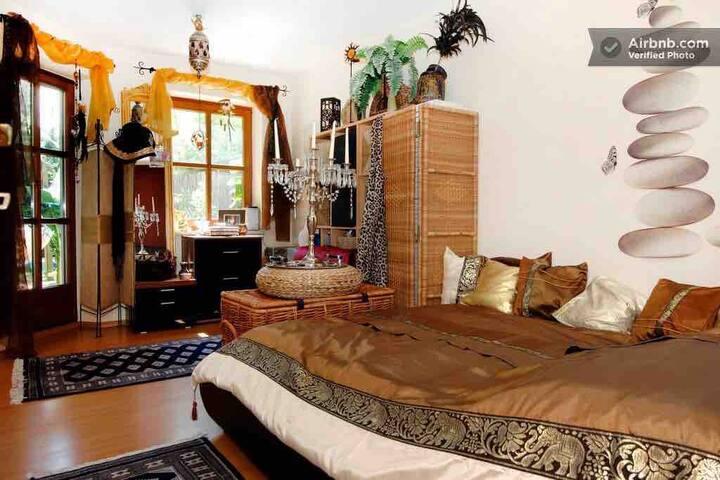 Exclusives Gartenterrassen Studio für bis 3 Pers.