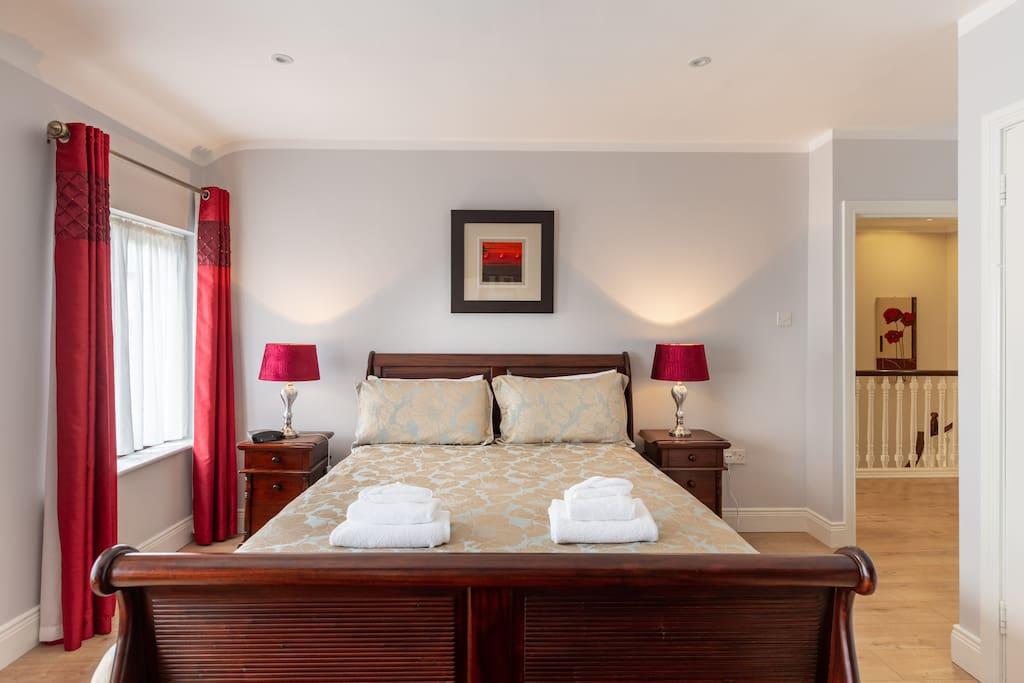 King size Master bedroom en-suite with power shower.