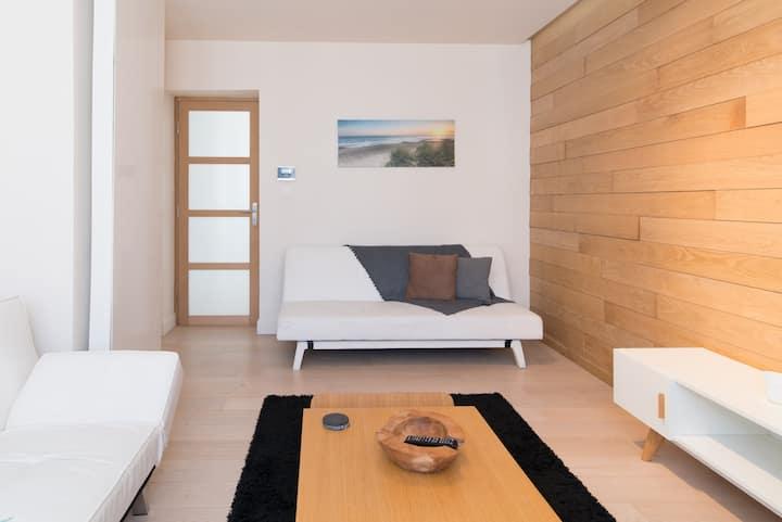 Ruim duplex appartement op 50 meter van het strand