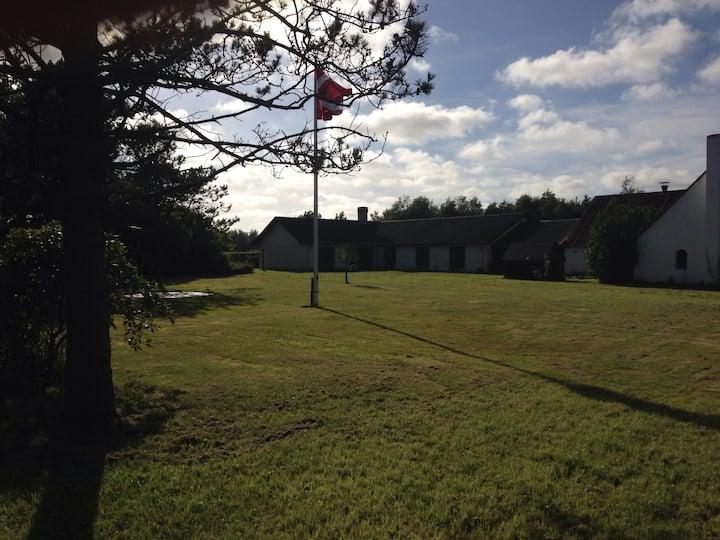 Stort hus m. skov 10 km fra strand 🌳🌲🌊