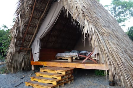 Ecological cabin on the beach. Boca del Cielo
