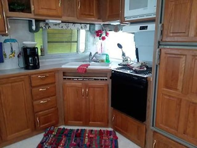 Fully equipped kitchen ....
