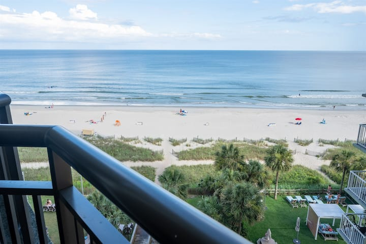 ❤️Ocean Front with 2 Balconies! Pools, Hot Tubs, Patricia Grand