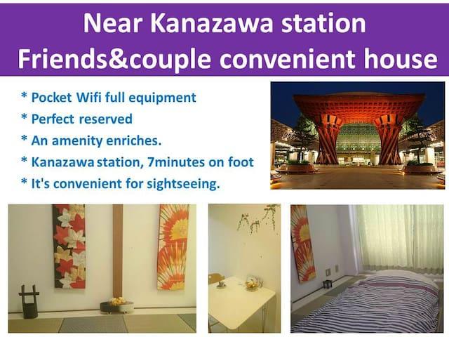 Near Kanazawa-Sta! Clean&Cozy1&Safety Room K1
