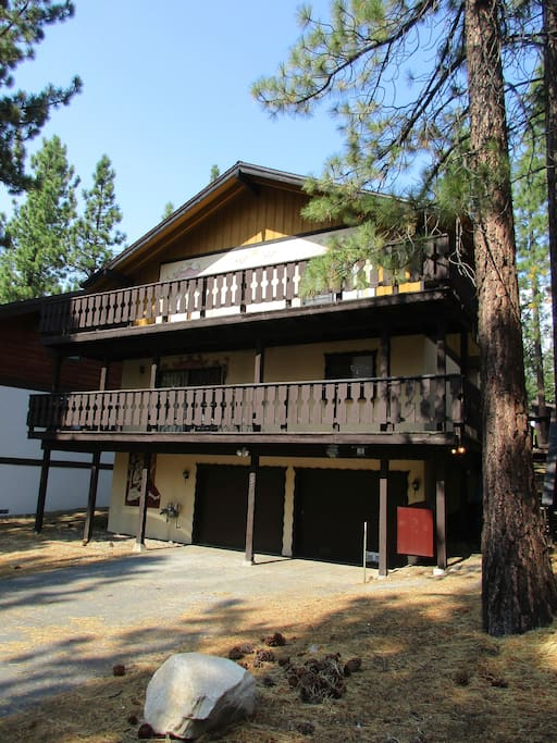Tahoe Timber Chalet.  Your perfect vacation awaits you.  Parking for four vehicles, one can be parked in the garage.