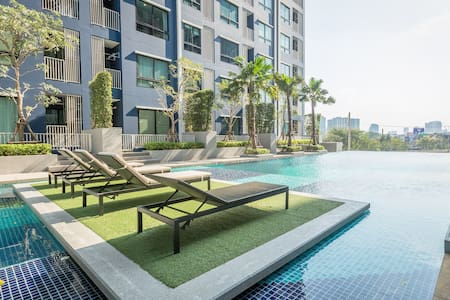 Private Paradise Pool View with cozy location - Bangkok - Daire