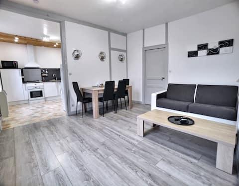 Appartement chaleureux avec 2x2 couchages