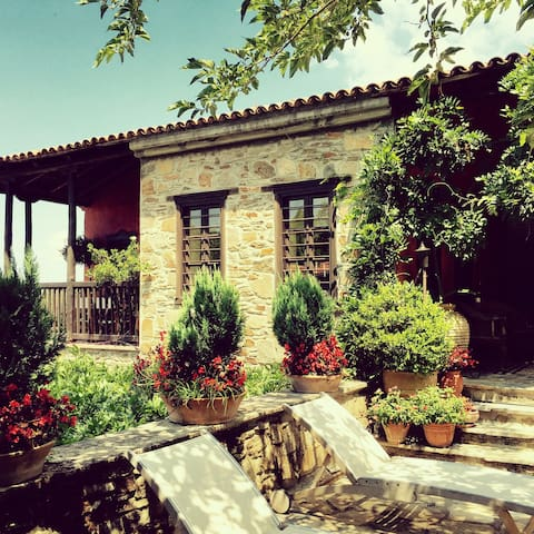 Traditional stone house - amazing garden - Parthenonas - Szeregowiec
