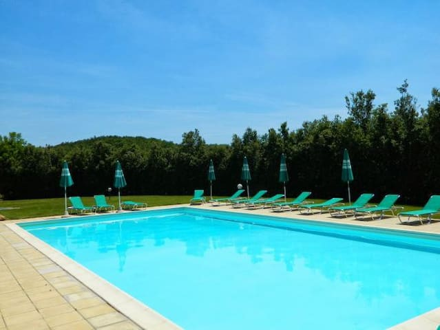 Lovely stone-built apartment with lawn and pool - Colle di Val d'Elsa