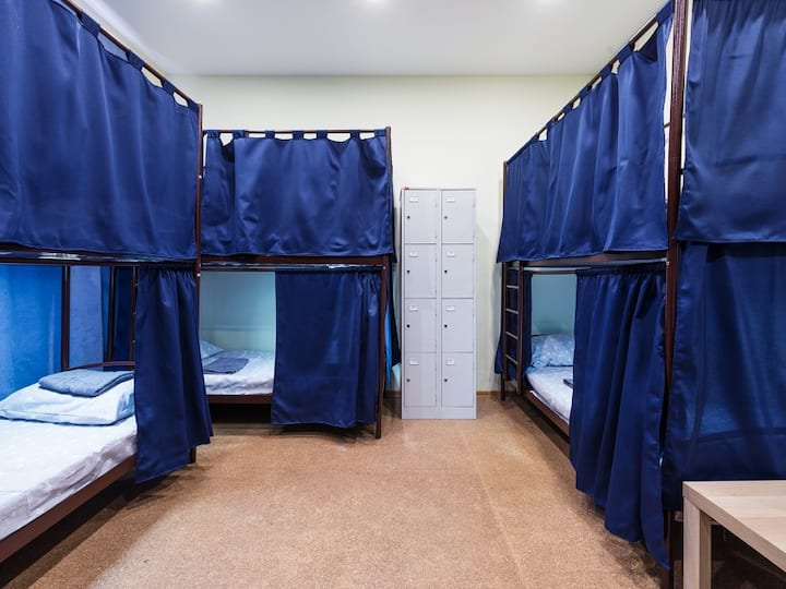 "Bed in the eight-bed dormitory. Guest house "" Inside"""