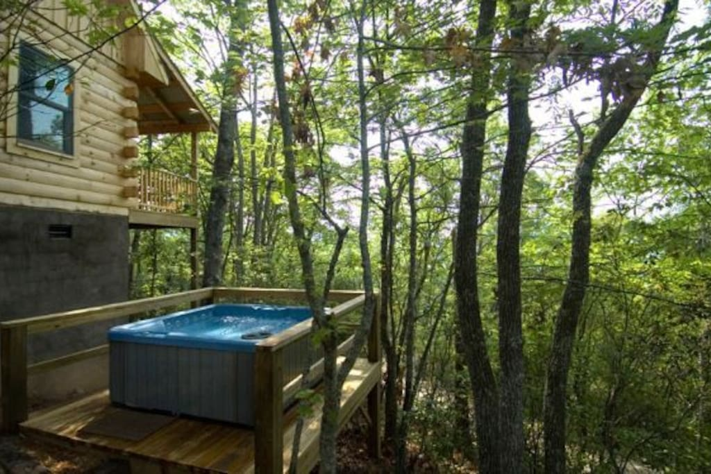 Wooded Seclusion at the Hot Tub