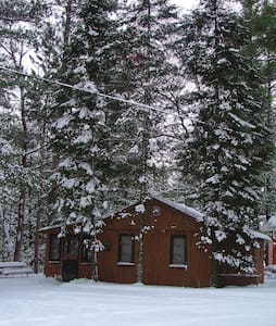 5) HOT TUB + Snow + Fireplace + LogCabin = L O V E - Traverse City