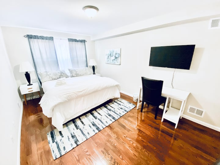 🧡KING BED #6 NEAR NEWARK AIRPORT/NYC/OUTLETMALL