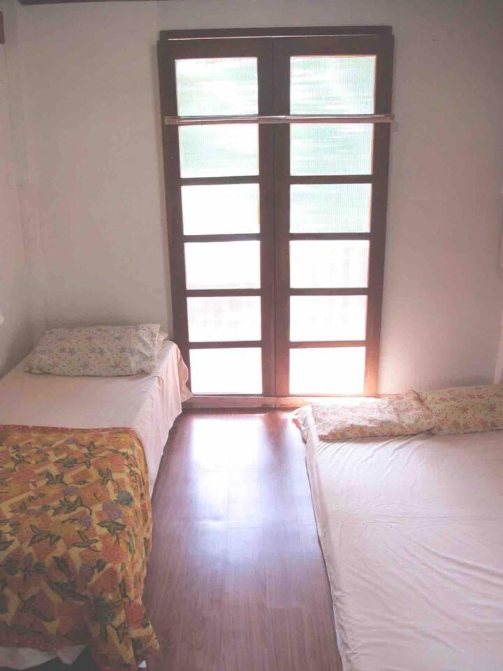 3-person room in nipa hut