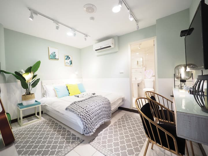 1~2person room (Taipei Ximending)MRT3MIN@西门町