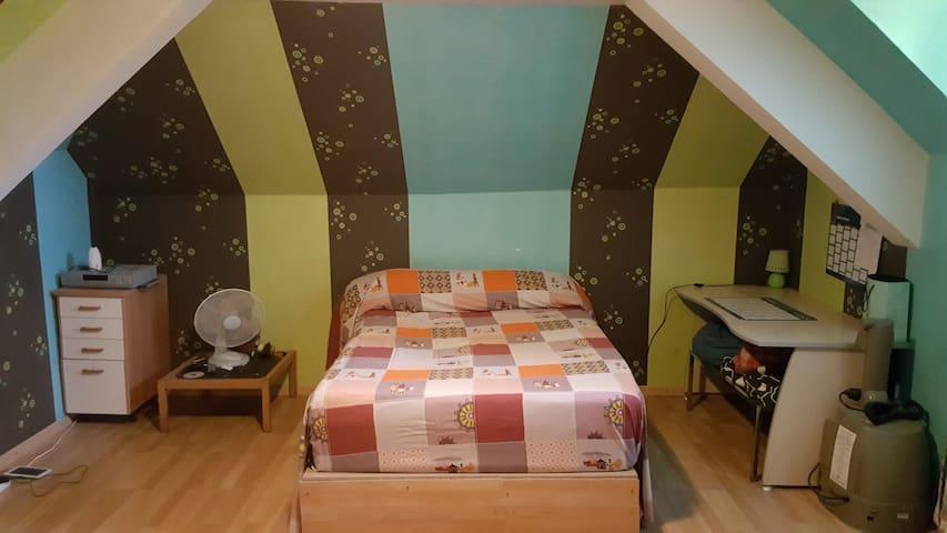 Chambre 35m² en campagne - Montsûrs - เกสต์เฮาส์