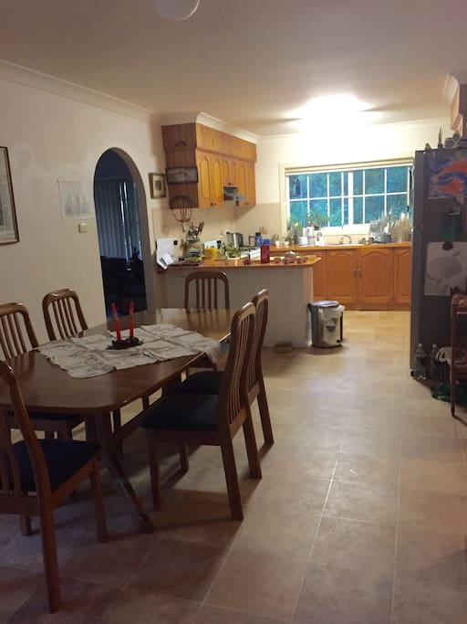 Spacious kitchen dining area for guests to prepare and cook food