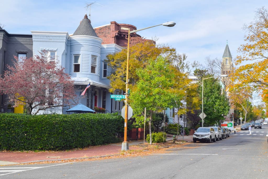 Corner house on 2nd St:  2 blocks from Capitol, Library of Congress, National Mall