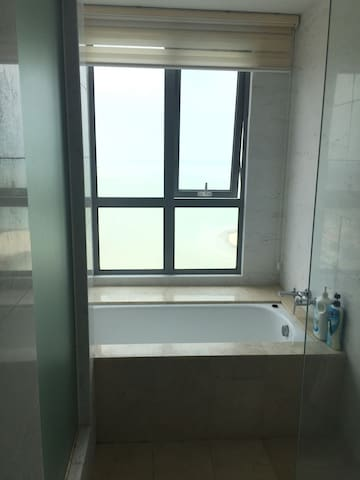 sea view from the master room 's toilet
