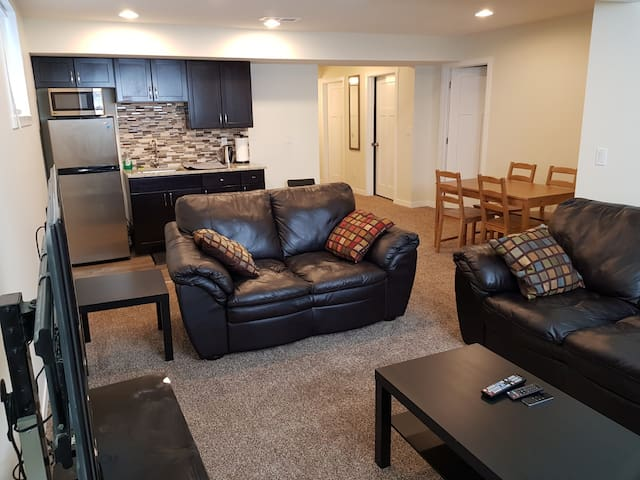 Private & spacious 2 bedroom walk-up suite