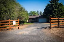 Our fenced and private acreage is the perfect getaway from the busy city life!