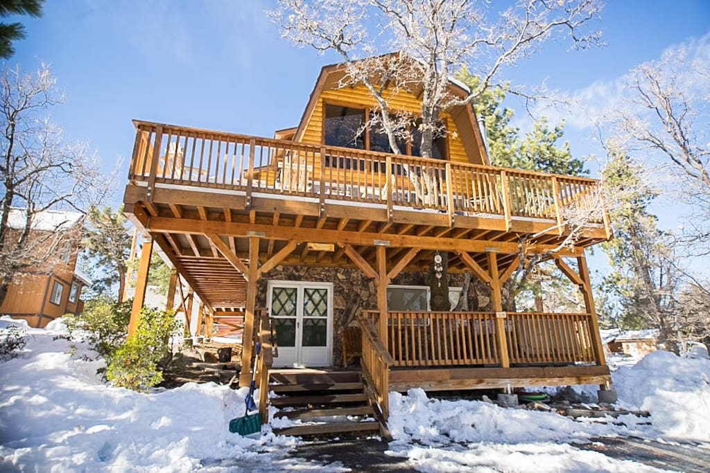 Big Bear Cabin Hot Tub Game Room Cabins For Rent In