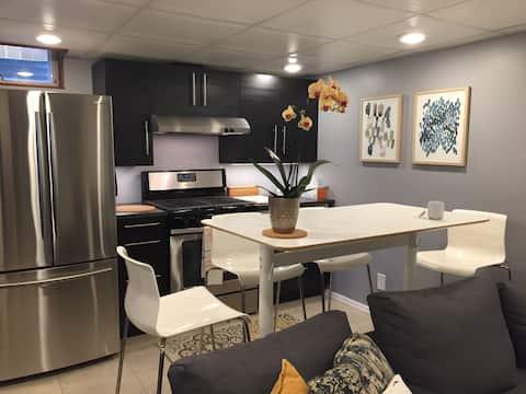 ¡Suite privada encantadora w/cocina! MoA/Aeropuerto/Mpls