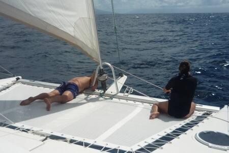 Catamaran bateau d'hôtes Catamaran Contre-Temps