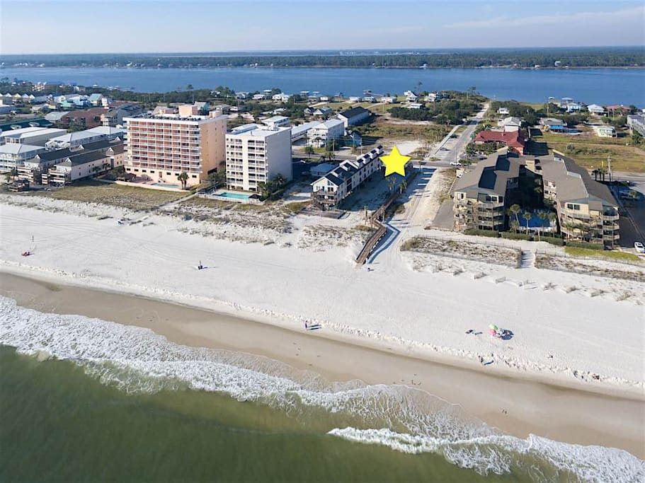 Your condo is only a short stroll from the beach.
