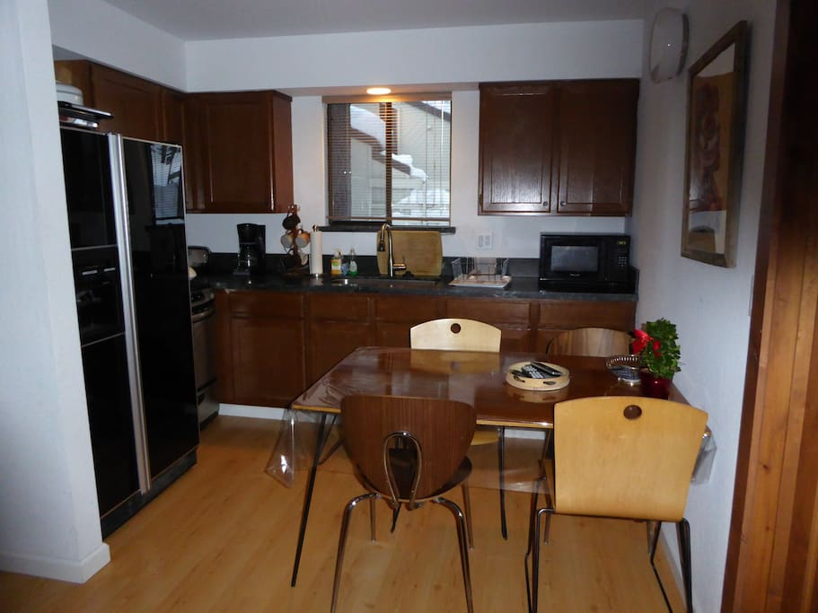 Kitchen, Gas Stove, Big Frig, Dining Table