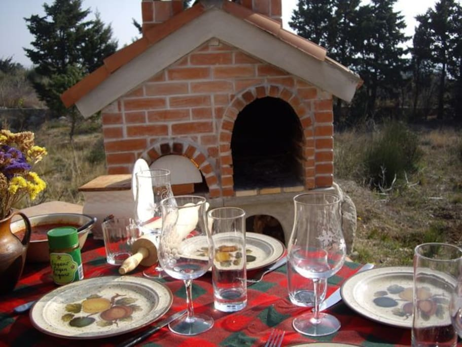 your own pizza oven and BBQ