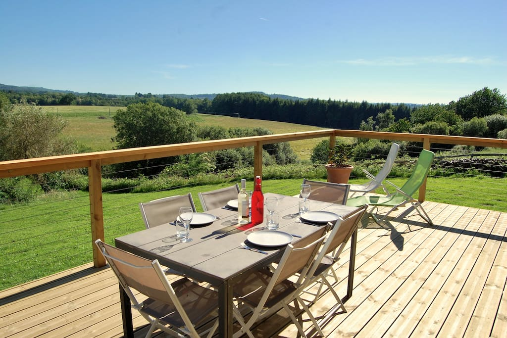 Enjoy Lunch and the Panoramic Views of the Countryside