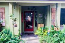 The main entrance of our beautiful home!