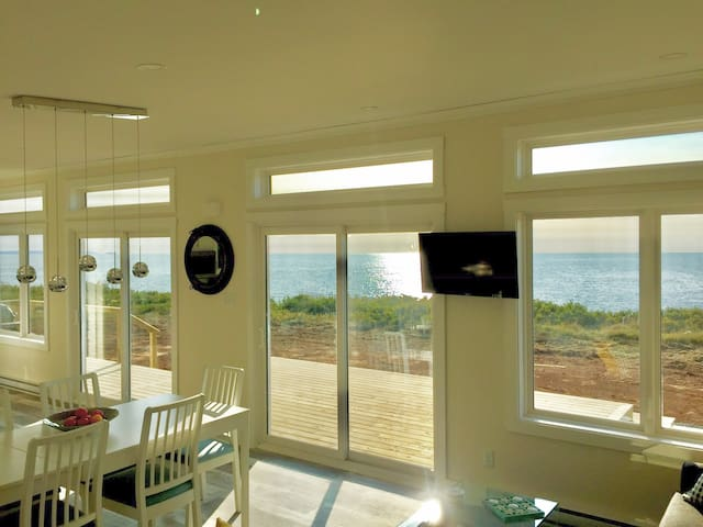 Ocean views abound with tons of natural light