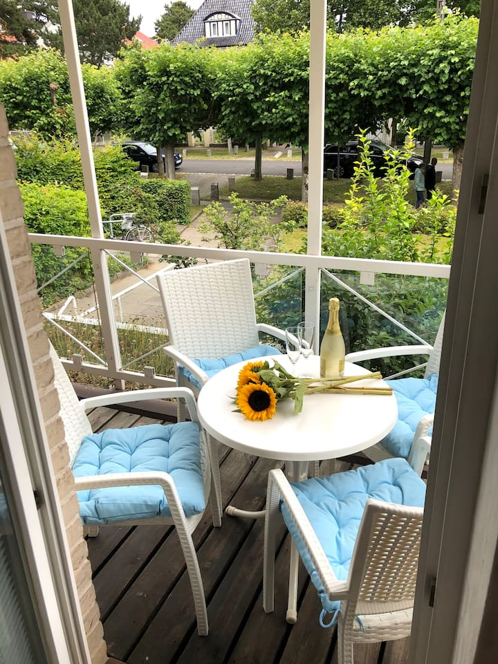2-Zimmer-App. mit Balkon inkl WLAN am Strand!